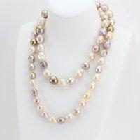 Уникальный ювелирный магазин жемчуга, 40 дюймов барочные жемчужные украшения, 10 13 мм большое многоцветное ожерелье с жемчугом БАРОККО Кеши,