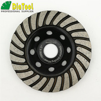 4 5inch Diamond Turbo Row Grinding Cup Wheel Dia 115mm Grinding Disc For Concrete Masonry And