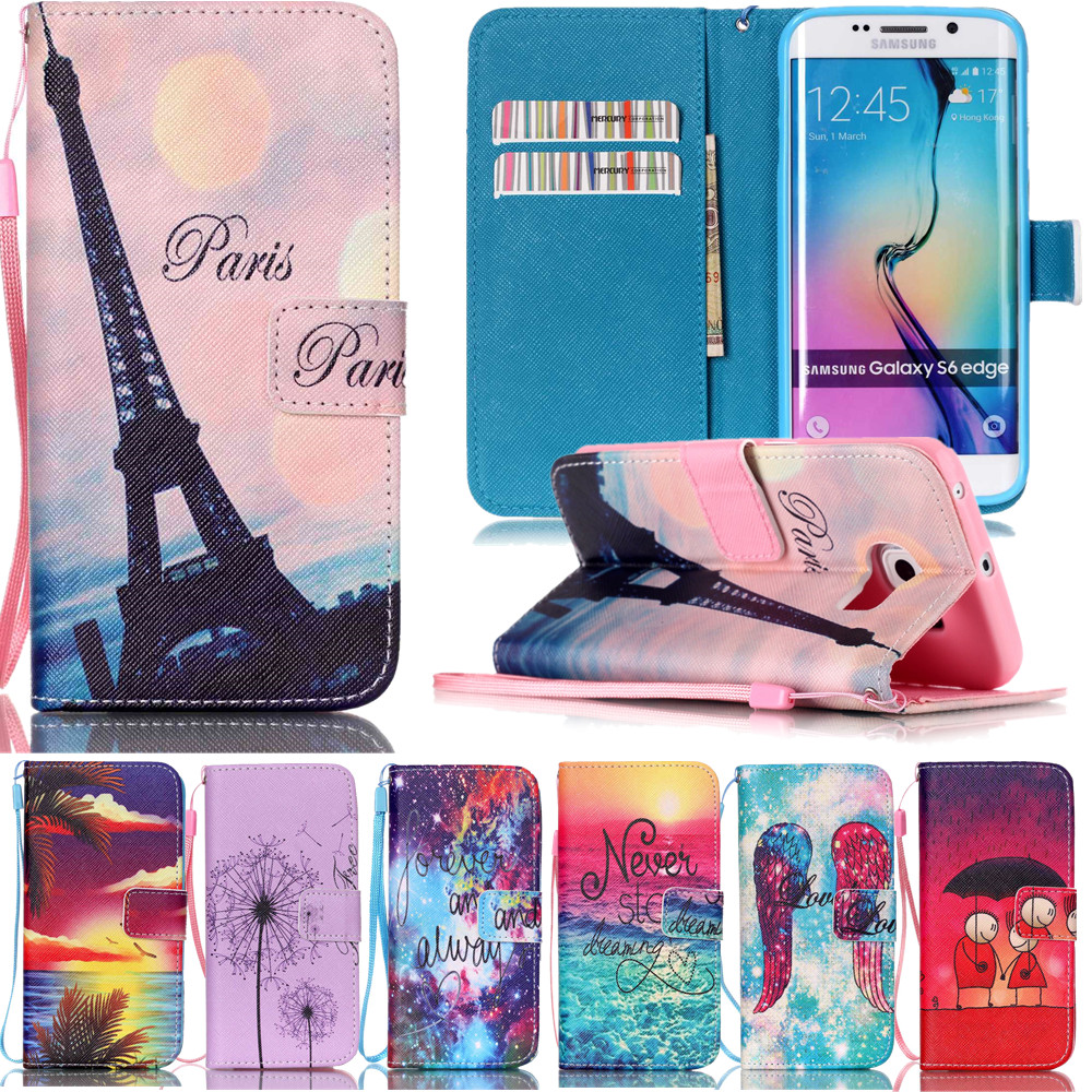 <font><b>Flip</b></font> Leather <font><b>Case</b></font> For <font><b>Samsung</b></font> <font><b>Galaxy</b></font> <font><b>S3</b></font> S4 S5 <font><b>Mini</b></font> S6 Edge Plus Note 4 Note 5 Luxury Cover Wallet Phone <font><b>Case</b></font> with Strap image