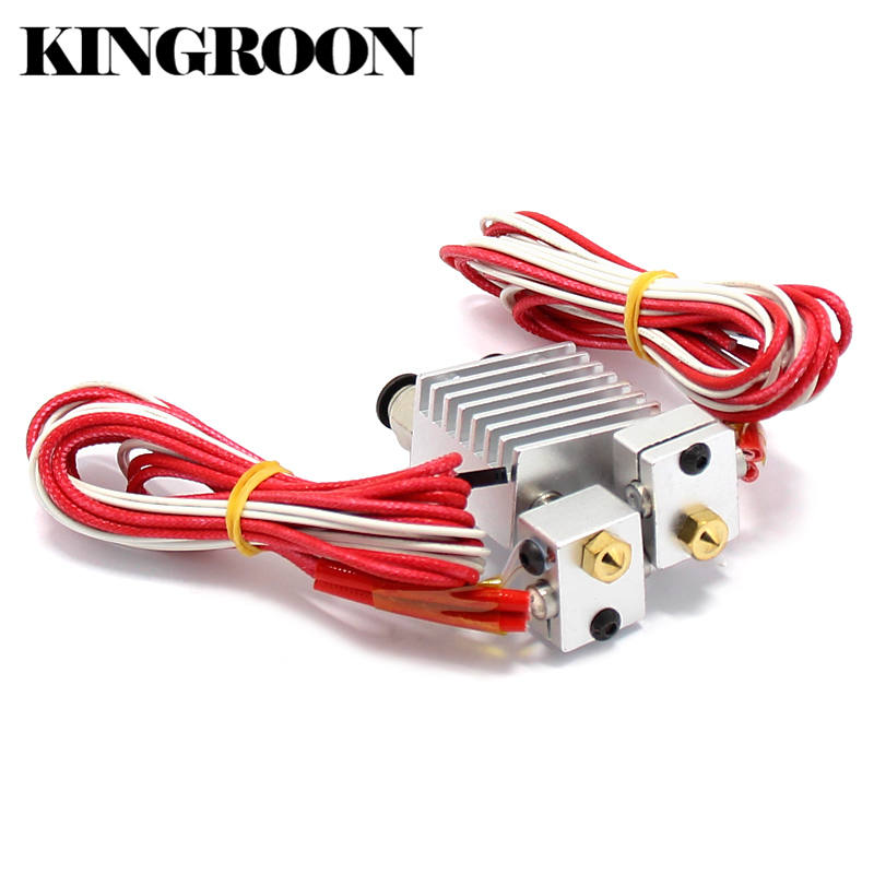 Double Head 2 in 1 out J-Head Remote Extruder 3D Printers Extrusion Parts Hot End All Metal Heat Sink 1.75mm 0.4mm Bowden Part