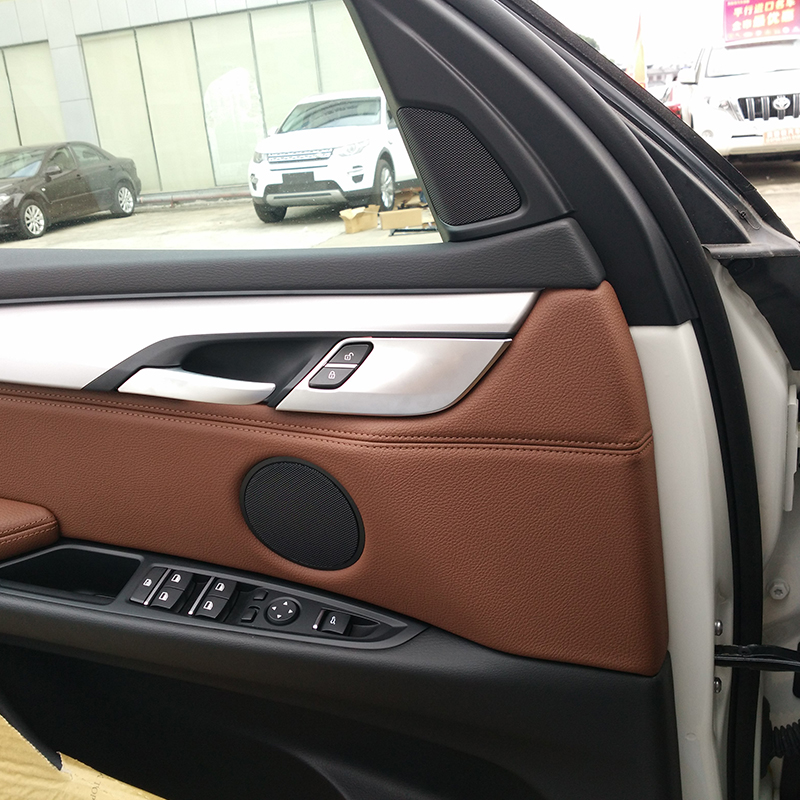 Carbon Fiber ABS Car Door Lock Knob Cover Trim For BMW X5 f15 2014-2017 For X6 f16 2015-2017 Car Accessories 4pcs