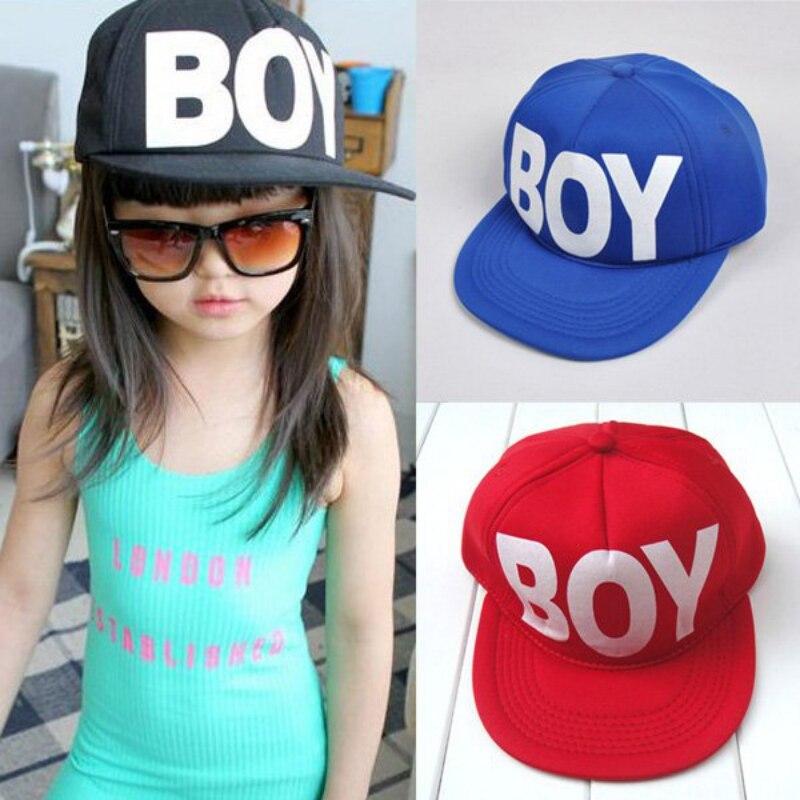 fd03739b652 Cute Kids Boys Girls Hats Baseball Hat Sun Letter Print Baby Cap Adjustable  Snapback Hat Gorras