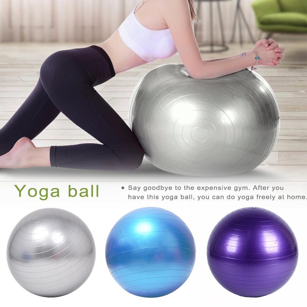@1  Yoga Ball 5 Piece Set Утолщенные взрывозащищенные Фитнес Yoga Balance Ball Спортивные Упражнения Мяч ①