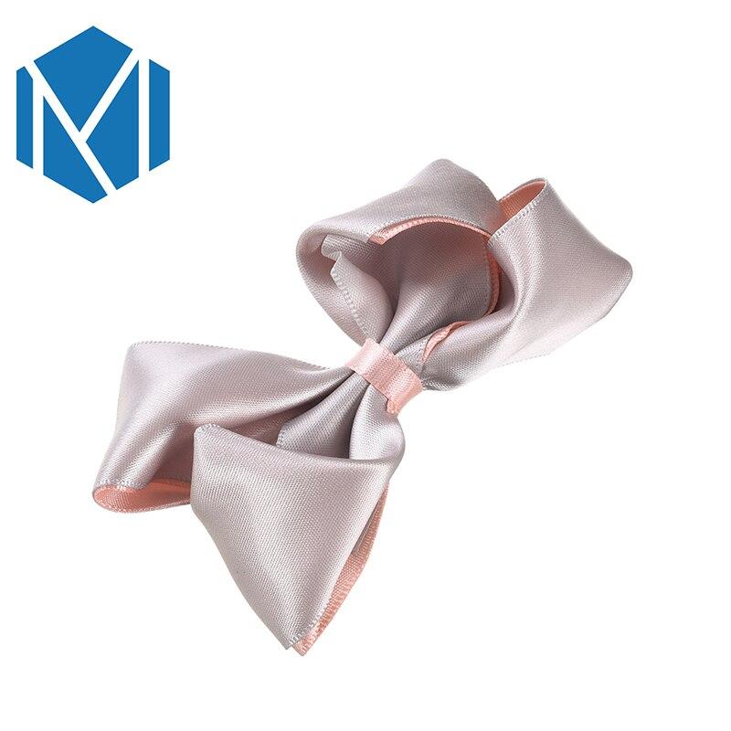 M MISM 1PC Fashion Women Big Hairpins Solid Ribbon Bow Hair Clip Girl Headdress Steamer Children Barrettes Accessories