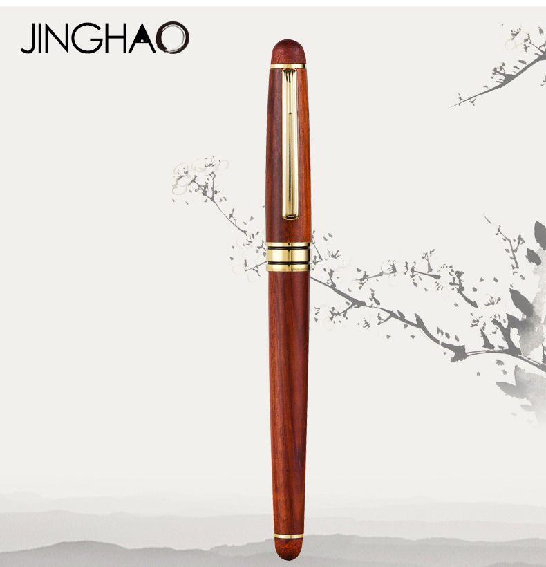 Luxury Christmas Gift Red Fountain Pen Gold Clip Fine Point 0.5mm Iraurita Ink Pens with a Gift Box Office Business Stationery 550 554 model pen bamboo pen fountain sets gift for christmas new year wedding gift pen