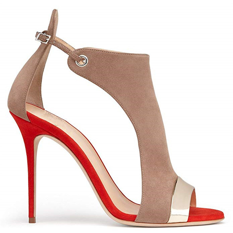 MORAZORA 2019 large size 35-45 women Gladiator sandals flock buckle summer stiletto high heels shoes sexy fashion wedding shoes