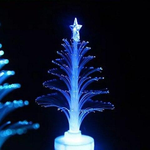 New Year Optical Fiber LED Holiday Christmas Xmas Tree Color Changing LED Light Lamp Home Decoration Pakistan