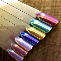 TCWB222 New Arriving Unicorn Powder Mermaid Nail Art Aurora Chrome Pigment Best Effect For Nail Art