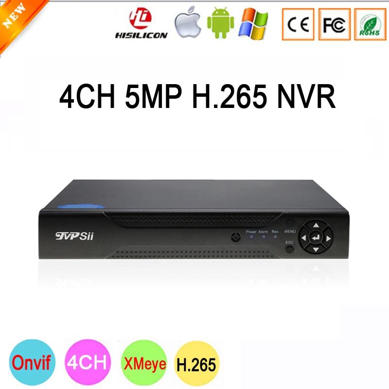 Dahua Panneau Hi3536D Xmeye 4CH * 5 m/8CH * 4 m HD Numérique 5MP 4CH 4 Canal H.265 surveillance IP ONvif Caméra NVR Livraison Gratuite