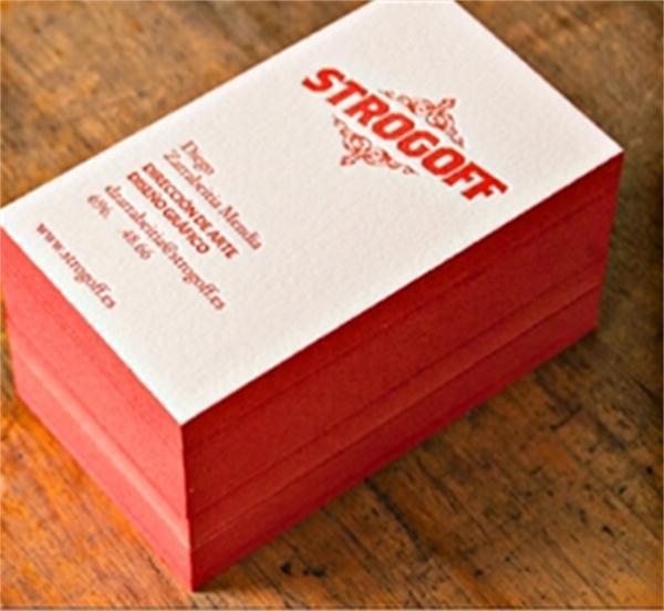 Beauty design 600gsm cotton custom letterpress business card edge beauty design 600gsm cotton custom letterpress business card edge color business card printing service carte de visite 200pcs in business cards from office colourmoves