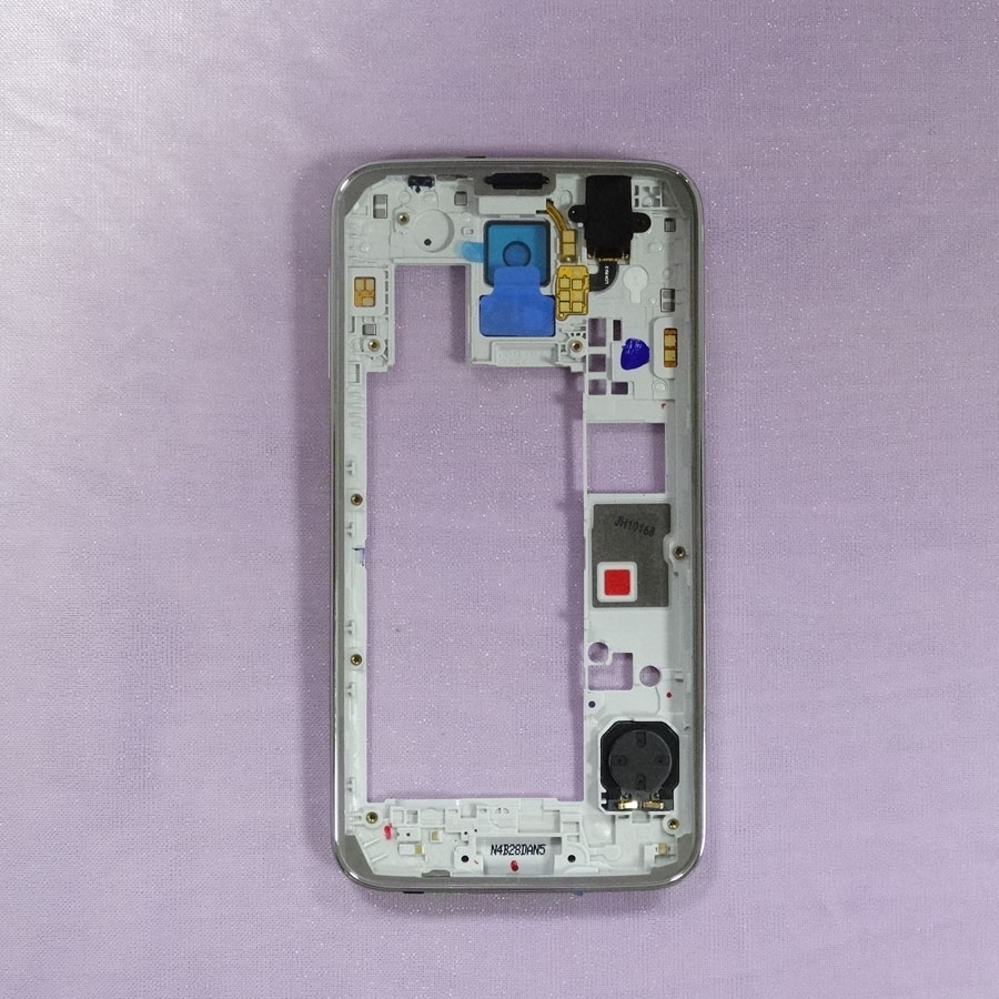 High Quality Replacement parts For Samsung Galaxy S5 G900FD dual Sim card Middle Housing Bezel Frame Sliver