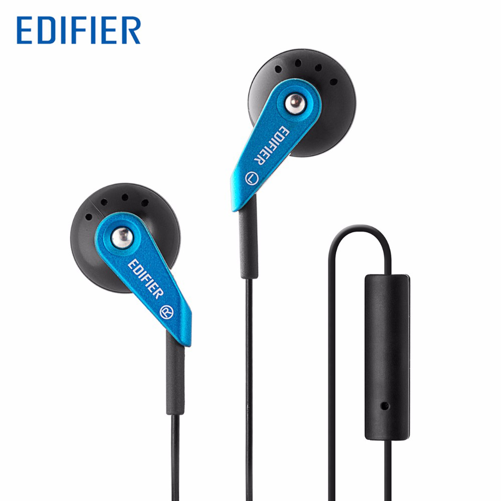 Edifier P185 In-Ear Earphone 3.5mm Stereo HiFi Stylish Headset For Mobile Phone MP3 MP4 Ear Audio with Microphone