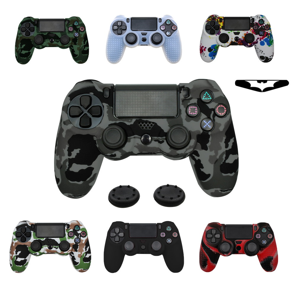 camo-silicone-gel-guards-sleeve-skin-case-for-ps4-controller-grips-cover-case-caps-for-font-b-playstation-b-font-4-pro-slim-durable-thumbstick