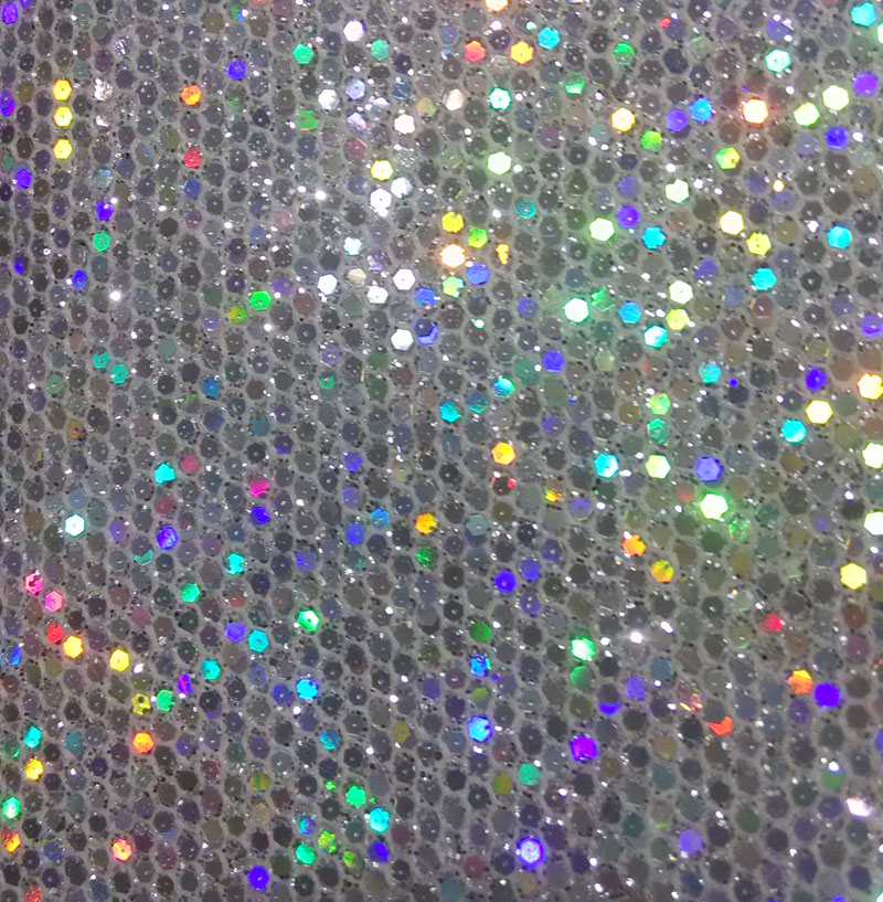 Synthetic Pvc Small Glitter Holographic Snake Scale