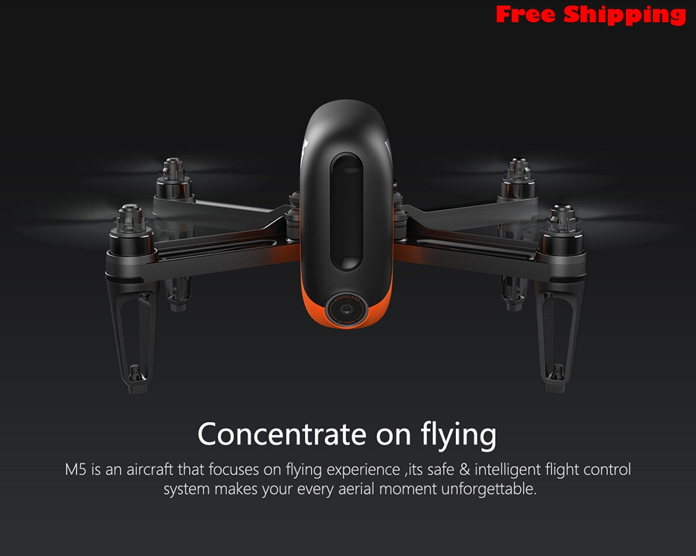 M5 GPS WIFI FPV RC Drone With Ultrasonic Altitude Holding Point RTF GPS-Assited Hover Optical Flow Positioni  Free Shippingng