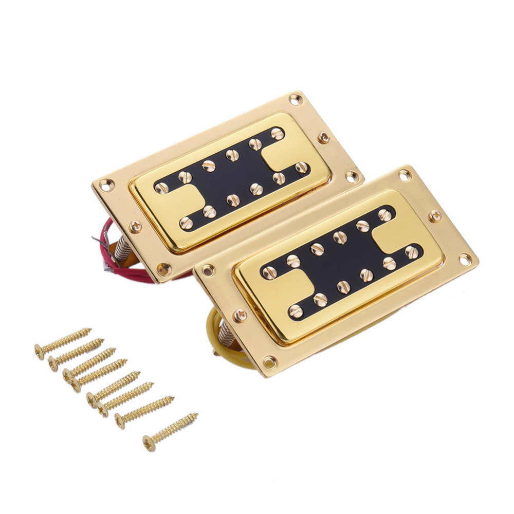 6-string Rickenbacker electric guitar or bass Mini pickup 12 double-row adjustable magnetic column Guitar Pickup black 4 string bass humbucker double coil pickup for bass guitar