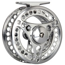 3/4 5/6 7/8WT CNC Machined Fly Reel Silver Large Arbor Aluminum Fly Fishing Reel