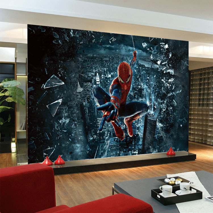 Free Shipping The Amazing Spider Man 3D Large Mural