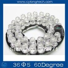 Инфракрасный 36x5 ИК СВЕТОДИОДНЫЕ табло 60 Градусов для CCTV камеры ночного видения питания DC12v. CY36F5-60(China (Mainland))
