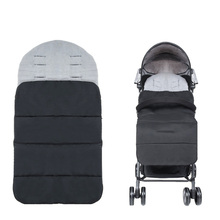 все цены на Thick Baby Stroller Sleeping Bag Winter Warm Newborn Foot Cover Infant Windproof Sleep Bag Stroller Sleepsacks Pram Cushion онлайн