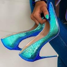 8/10/12 см женские острый носок Вечерние свадебные туфли на высоком каблуке женские туфли-лодочки на платформе слипоны туфли-лодочки женская обувь на высоком каблуке; Chaussure