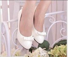 Женщины платформа клинья обувь с острым носом кожа женщины туфли на высоком каблуке дамы удобные рабочий обувь размер 35 — 40 adld и 526