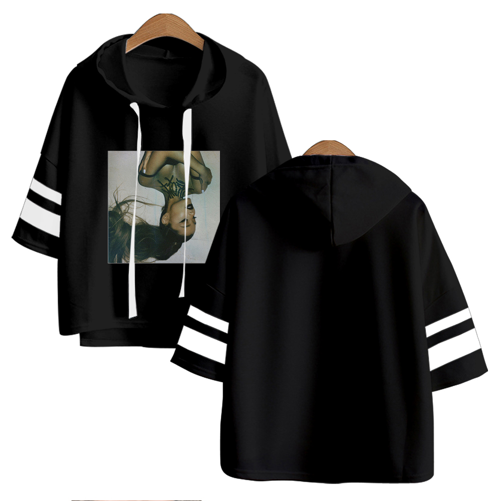 Ariana Grande Kpop Hoodies Riverdale Short Sleeve Harajuku Fashion Hoodies Women Cool Spring/Summer Clothes Hip Hop Clothes