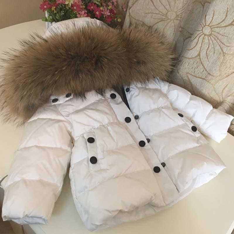 2018 Rissua Winter Thickening Down Jacket Children Outerwear Coats Baby Boys Girls White Duck Down Snowsuit Kids Overcoat Parkas цены онлайн