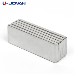 U-JOVAN Hot Sale 10pcs Super Strong Craft Fridge Magnets Cuboid Block Neodymium Magnet Rare Earth N35 30 x 10 x 2 mm