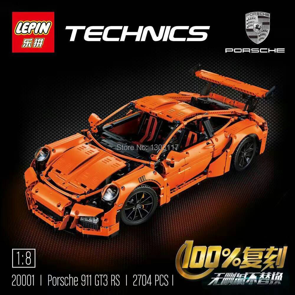 font b LEPIN b font 20001 technic series 911 GT3 RS Model Building Kits Minifigure