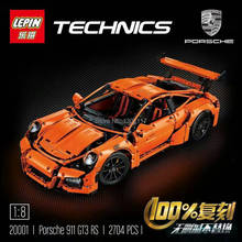 LEPIN 20001 technic series 911 GT3 RS Model Building Kits Minifigure Blocks Bricks Compatible With legoelieds 42056 boy gift