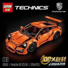 LEPIN 20001 technic series 911 GT3 RS Model Building Kits Minifigure Blocks Bricks Compatible With legoelieds