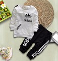 Algodón de moda de Primavera Otoño Chicas Ropa de Bebé Niño Oso Pantalones de Chándal Tops Calientes 2 Unids/set Bebes Bebé Recién Nacido Arropa Sistemas
