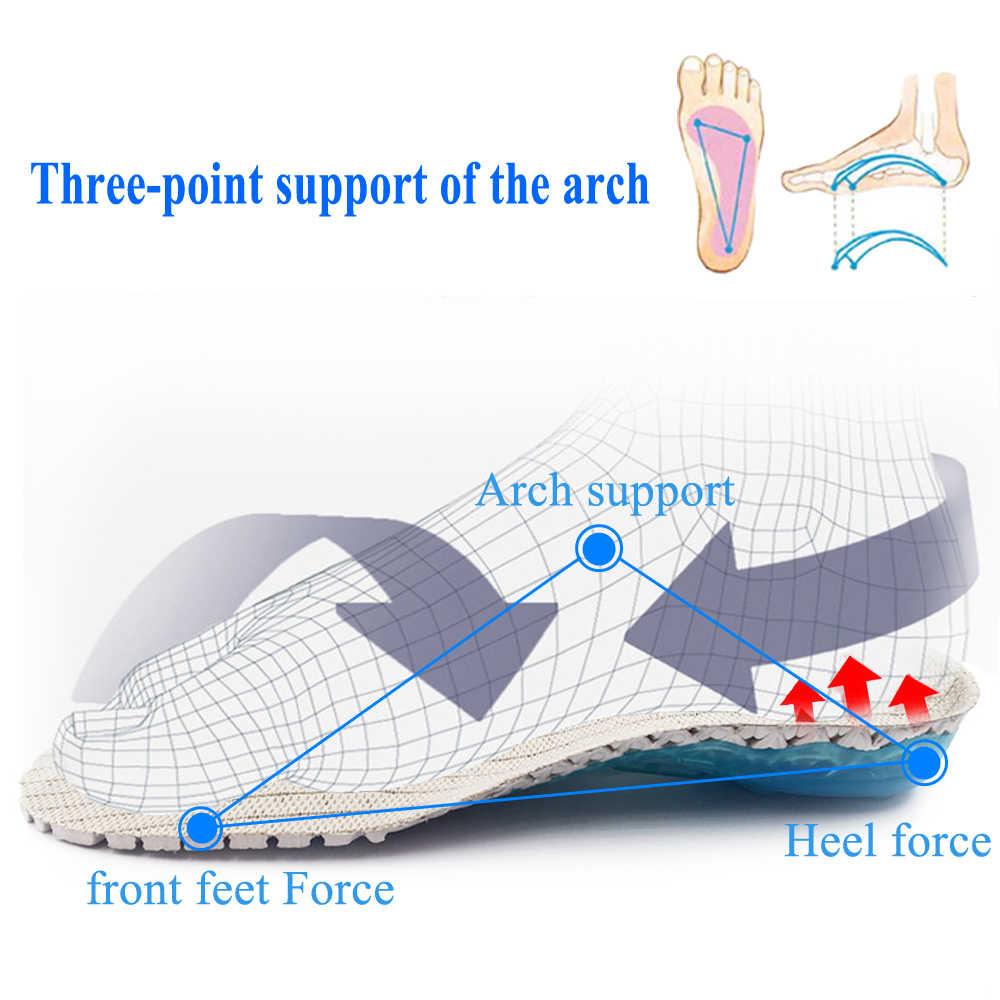 Стельки для ног ортопедические для занятий бегом весенние амортизационные колодки для обуви пятка для обуви Защита ног вставки для обуви