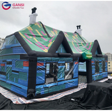Carnival party inflatable led bar oxford fabric giant outdoor club tent for rental business