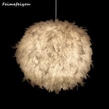 Feimefeiyou лучший подарок на день Святого Валентина форма сердца влюбленных перо лампада led подвесной светильник со светодиодной лампой 3 цвета