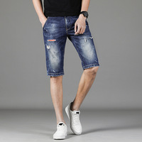 Summer New Denim Shorts Men's Jeans Short Men High Quality Cotton Men Bermuda Straight Jean
