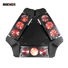 4pcs/lot Mini New RGBW 9x10W LED Spider Moving Head Lights LED Stage Light 9 Eyes 10W RGBW Spider Sueper Beam Light 90W