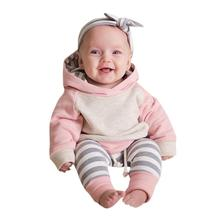spring autumn new fashion baby boys girls hoodies sport suit Children clothing set toddler casual kids tracksuit set for 0-24M