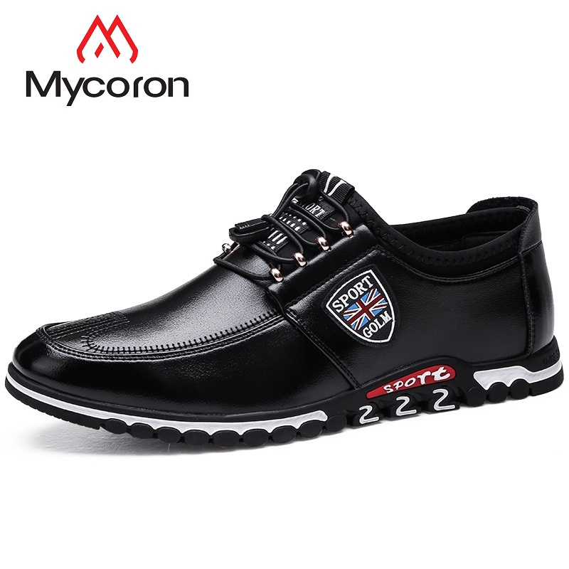 Lace A up Fatti Homme Nero Di Stivali Nuovo Uomini Chaussure Degli Uomo  Sport Il Mano Solido Confortevole Mycoron brown Casual 2018 Stile Scarpe  wza8xZx 5b5a779f66c