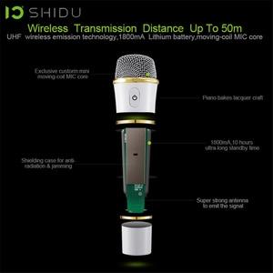 Image 5 - SHIDU 25W 휴대용 음성 증폭기 방수 미니 오디오 스피커 USB Lautsprecher UHF 무선 마이크 교사 S92