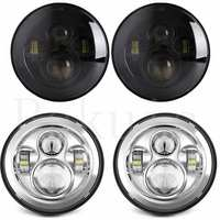 2 Pcs For Lada 4x4 Urban Niva 7 Inch Round LED Headlights Hi Lo Beam Fit