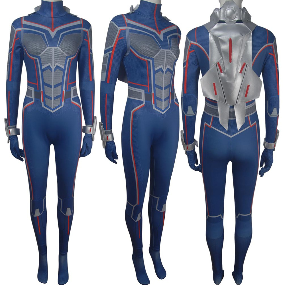 Ant-Man and the Wasp superhero jumpsuit cosplay Wasp suit Halloween make-up costume X'mas birthday gift toys anime comic-con