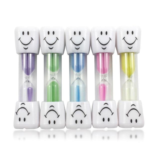 children kids tooth brushing timer 2 minutes smiling face sandglass