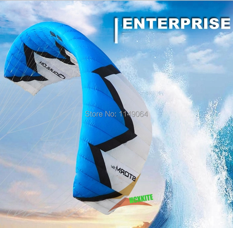 free shipping high quality storm15 square meters kitesurfing with handle line outdoor fun sports parafoil volante kiteboard free shipping 1000m 300lb 100% uhmwpe braid kitesurfing line 1 2mm 4 weave