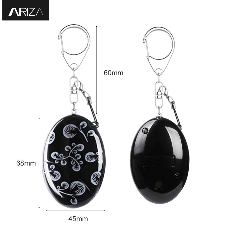 Ariza Waterproof Self-defense Personal Alarm Keychain 120dB Siren Alarm Anti-attack Security Keychain Alarm for Girls Students personal guard safety security siren alarm with led flashlight white 2 cr2032