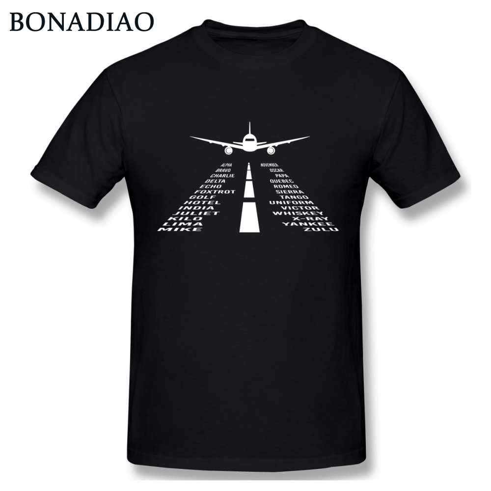 Novelty Airplane Phonetic Alphabet Pilot Gift T Shirt Fashionable Streetwear T Shirt Organic Cotton S-6XL Camiseta