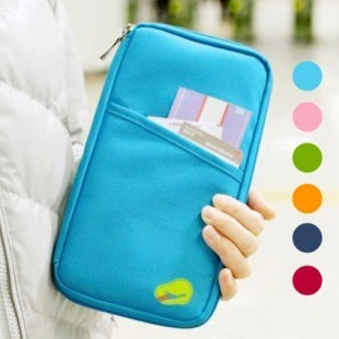 wholesale- Fashion travel document bag day clutch storage bag card holder coin purse wallet bag gift
