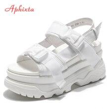 Aphixta Platform Shoes Women Sandals Wedge Heels Sh