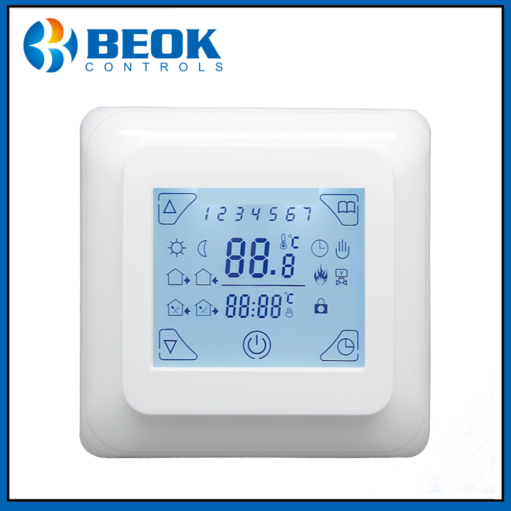 Beok TST23B-EP Touch Screen Heating Thermostat For Electric Floor Heating System Without Wi-Fi Function